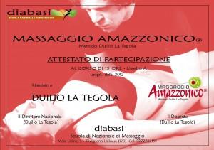 Calendario Nazionale Diabasi.Attestato Riconosciuto Massaggio Amazzonico
